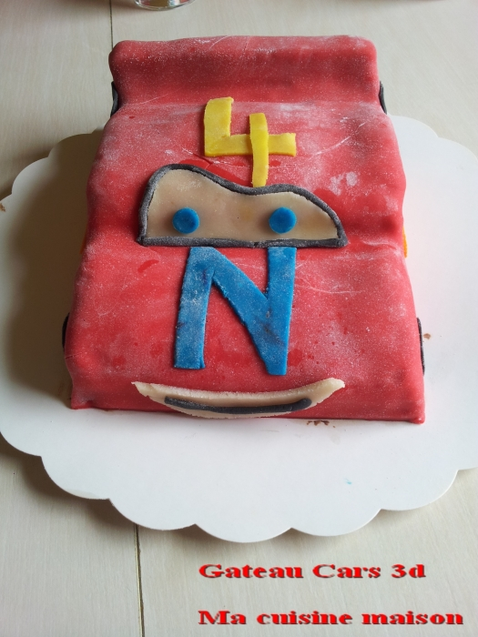 gateau cars 3d3
